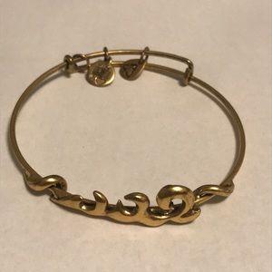 Women's Alex & Ani Wave Charm Bracelet
